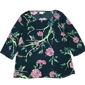 HD in Pairs Anthropologie Floral 3/4 Sleeve Top 12
